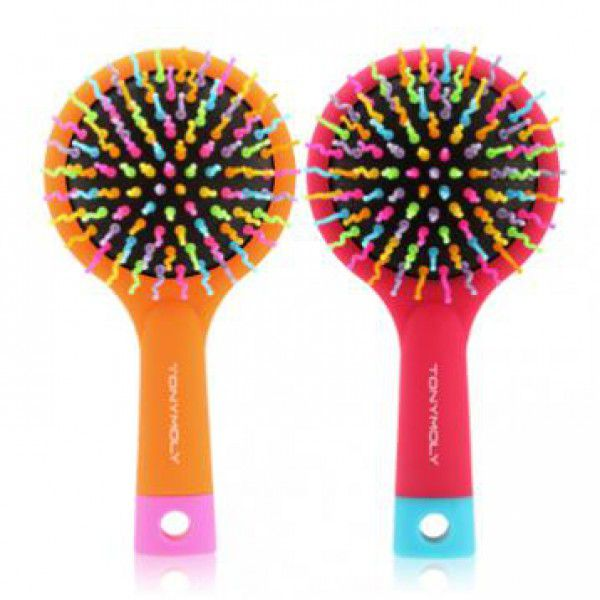 TonyMoly Volume S Curl Brush2 (Pink Purple)